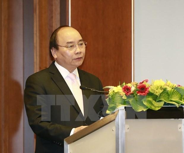 Le PM participe a un forum d'affaires Vietnam-Allemagne hinh anh 1