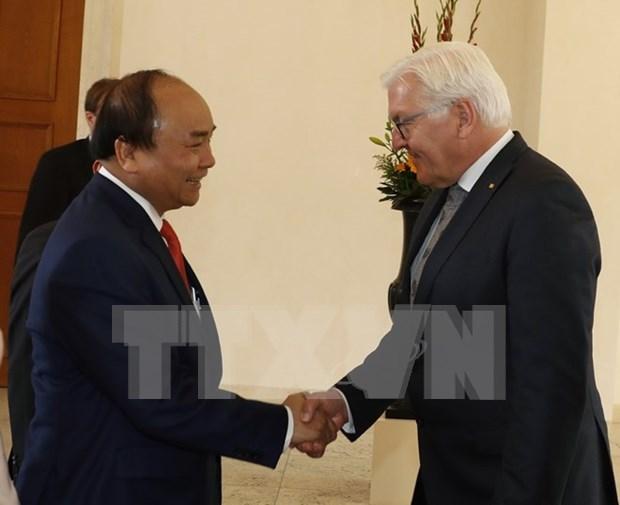 Entrevue entre le Premier ministre vietnamien et le president allemand hinh anh 1