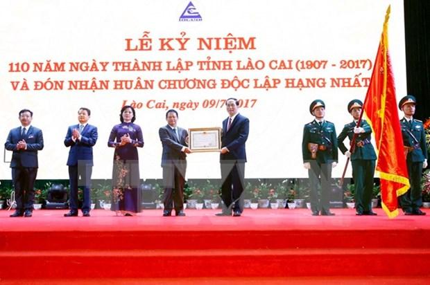 Le president exhorte Lao Cai a devenir une province developpee du Nord-Ouest hinh anh 1