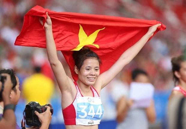 Nguyen Thi Huyen championne d'Asie sur 400 m haies hinh anh 1