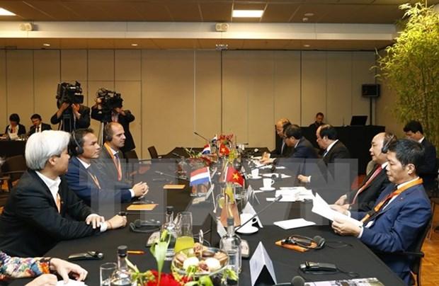Le PM Nguyen Xuan Phuc rencontre des geants economiques neerlandais hinh anh 2