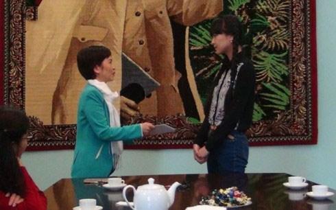 Une Vietnamienne obtient la medaille d'or aux epreuves du Bac russe 2017 hinh anh 1