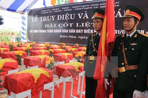 Ceremonie en memoire des heros morts pour la Patrie dans l'offensive a l'aeroport de Bien Hoa hinh anh 1