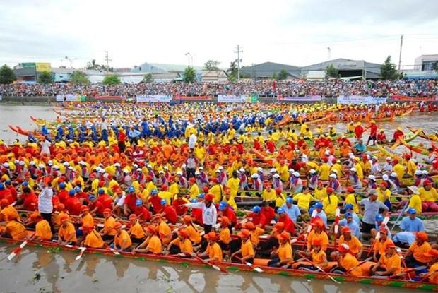 La fete Ok Om Bok et la course de pirogues de Soc Trang hinh anh 1