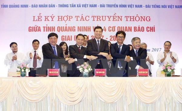 Quang Ninh coopere avec quatre organes de presse hinh anh 1
