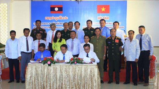 Quang Tri, Savanakhet et Salavan unies pour une frontiere de paix et d'amitie hinh anh 1