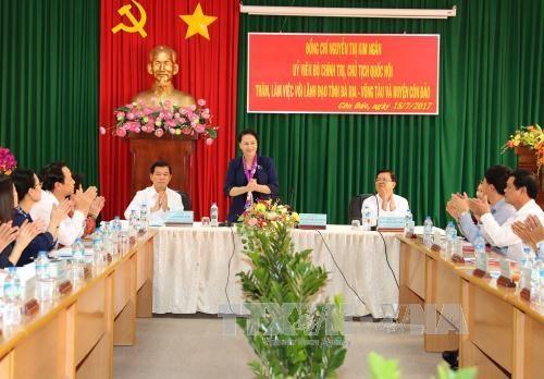 La presidente de l'AN en visite au district de Con Dao, province de Ba Ria-Vung Tau hinh anh 1