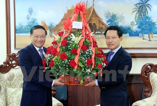 Felicitations aux dirigeants du Parti, de l'Etat, du gouvernement et de l'AN du Laos hinh anh 1
