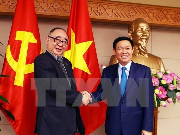 Le vice-PM Vuong Dinh Hue recoit une delegation de l'ERIA hinh anh 1