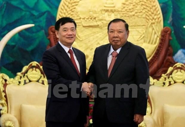 Le leader du PPRL souligne le role de l'Association d'amitie Vietnam-Laos hinh anh 1