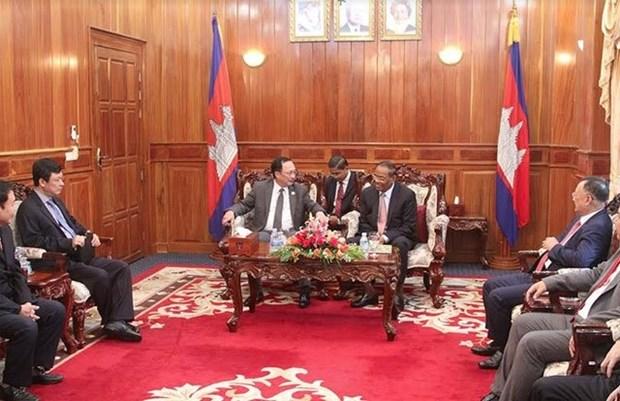 Vietnam et Cambodge resserrent la cooperation entre les deux forces de securite hinh anh 1