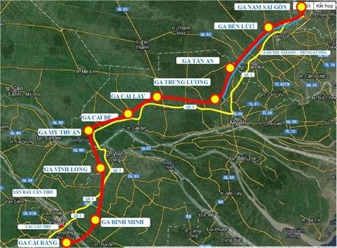 Un projet de ligne ferroviaire a grande vitesse Ho Chi Minh-Ville - Can Tho hinh anh 1