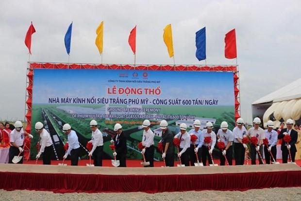 Construction de la premiere usine de verre flotte ultra clair a Ba Ria-Vung Tau hinh anh 1