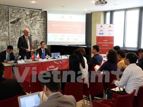 Promotion des exportations des produits vietnamiens vers l'Italie hinh anh 1