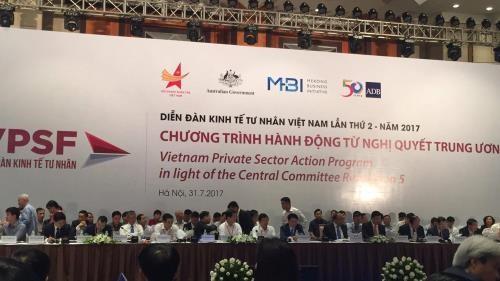 Bilan du deuxieme forum sur l'economie privee du Vietnam a Hanoi hinh anh 1