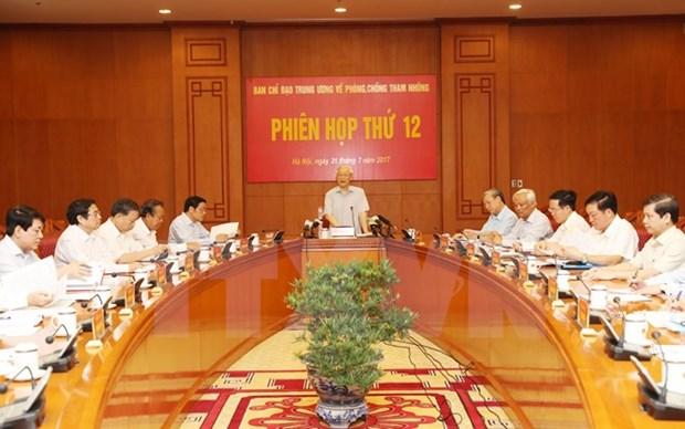 Douzieme session du Comite central de pilotage de la lutte contre la corruption hinh anh 1