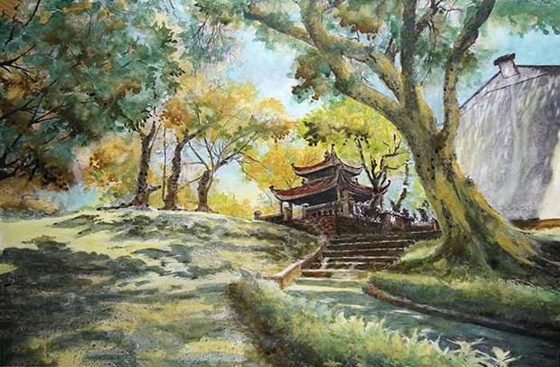 Exposition de peintures sur papier sur Hanoi hinh anh 1