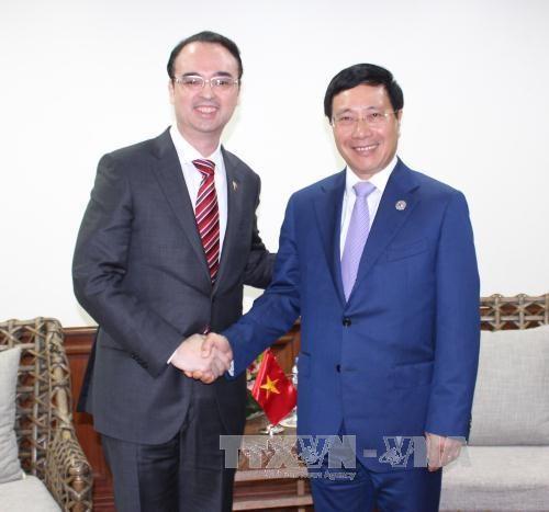 AMM-50 : rencontre entre le chef de la diplomatie vietnamienne et ses homologues hinh anh 1