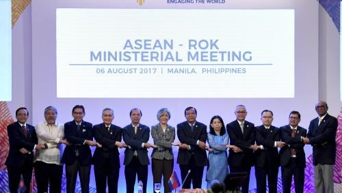 AMM-50 : des pays partenaires affirment le role de l'ASEAN dans la region hinh anh 1
