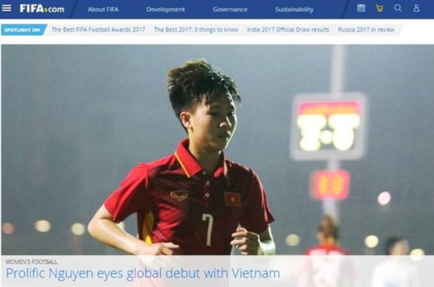 Une footballeuse vietnamienne honoree par la FIFA hinh anh 1