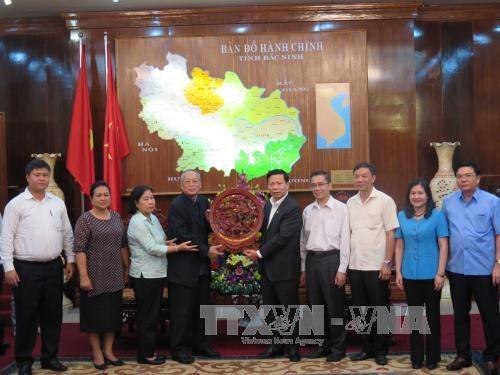 Une delegation du Parti du peuple cambodgien a Bac Ninh hinh anh 1