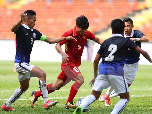 SEA Games 29 : une journee faste pour le football vietnamien hinh anh 1
