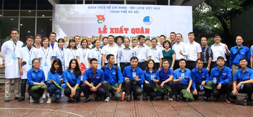 Les jeunes Hanoiens cultivent l'amitie et la solidarite speciale Vietnam-Laos hinh anh 1