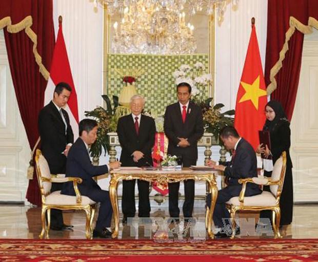 Vietnam et Indonesie signent plusieurs documents de cooperation hinh anh 1