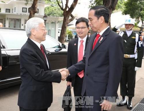 Ceremonie d'accueil officielle en l'honneur du secretaire general Nguyen Phu Trong hinh anh 1