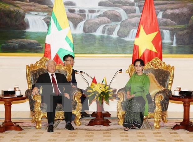 Entrevue Nguyen Phu Trong – Aung San Suu Kyi hinh anh 1