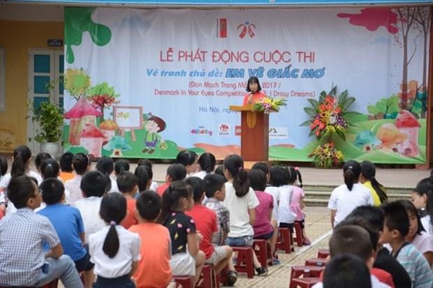 Un concours de peinture pour l'amitie Vietnam-Danemark hinh anh 1