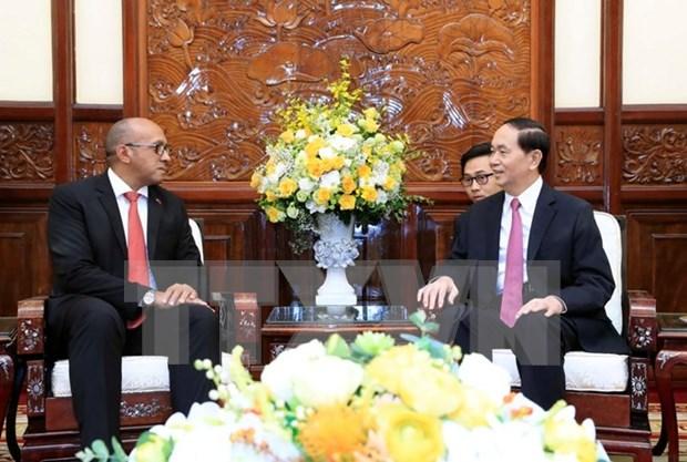 Le president Tran Dai Quang recoit l'ambassadeur de Cuba au Vietnam hinh anh 1