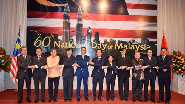 Celebration du 60e anniversaire de la Fete nationale de Malaisie a Hanoi hinh anh 1