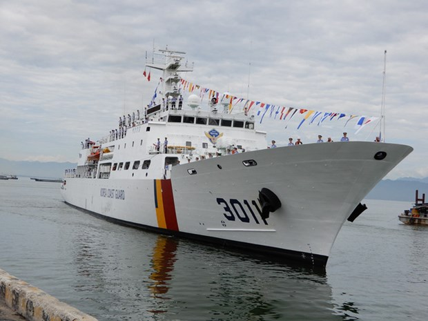 Le navire Badaro de la Garde-cote sud-coreenne a Da Nang hinh anh 1