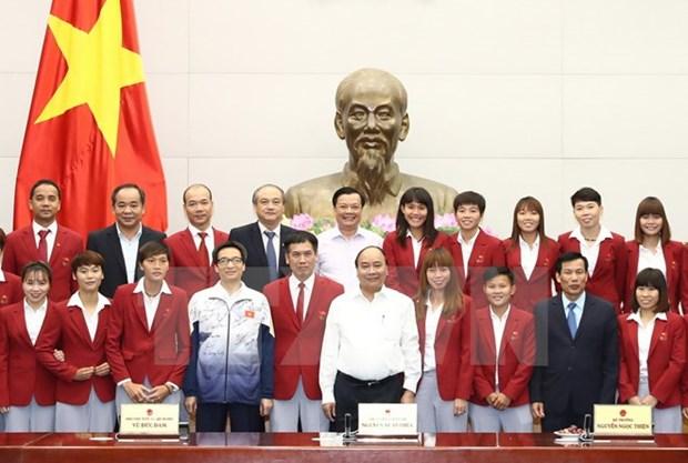 Le PM felicite les sportifs vietnamiens aux SEA GAMES 29 hinh anh 1