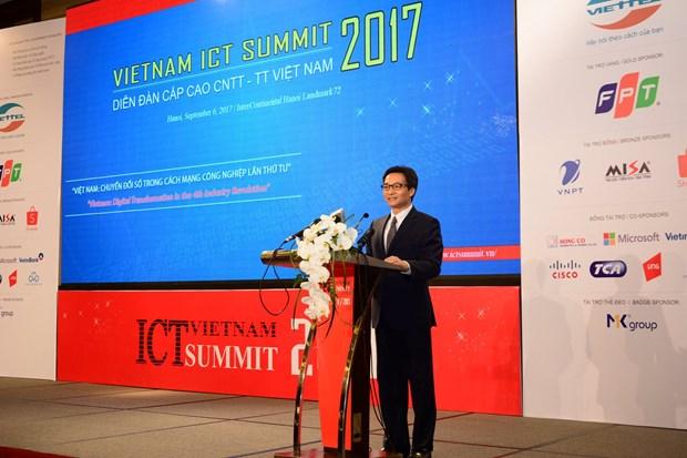 Le Sommet des technologies de l'information du Vietnam a Hanoi hinh anh 1