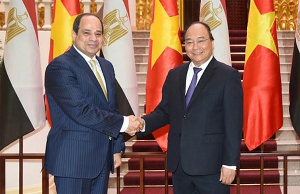 Le Vietnam estime les relations de cooperation mutuellement avantageuses avec l'Egypte hinh anh 1