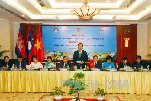 Intensification de la cooperation entre les jeunes Vietnam-Laos-Cambodge hinh anh 1