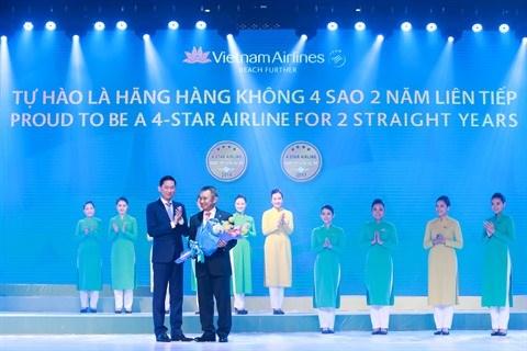 Vietnam Airlines continue d'affirmer son statut de service a 4 etoiles hinh anh 1