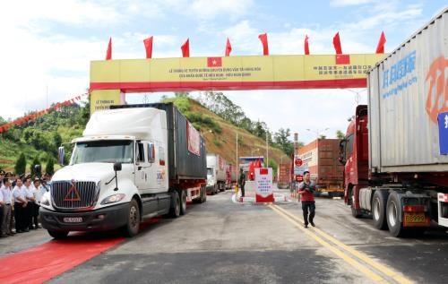 Vietnam-Chine : inauguration d'une route de transport de marchandises hinh anh 1