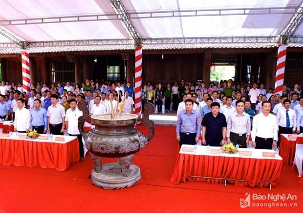 Nghe An commemore l'anniversaire de deces du president Ho Chi Minh hinh anh 1