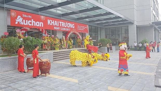 Inauguration du 15eme supermarche Auchan au Vietnam hinh anh 1
