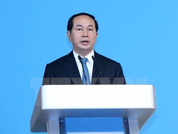 Message de felicitation du president vietnamien au president de l'AIPA-38 hinh anh 1