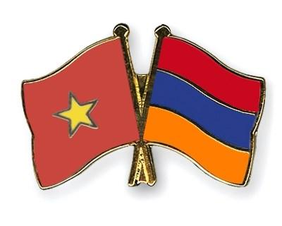 Echange d'amitie en l'honneur de l'etablissement des relations diplomatiques Vietnam-Armenie hinh anh 1