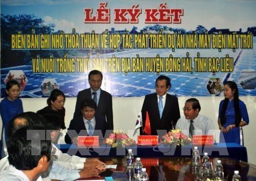 La Republique de Coree construira une centrale solaire a Bac Lieu hinh anh 1