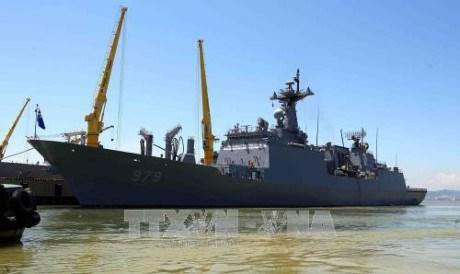Deux navires de la Marine sud-coreenne font escale a Da Nang hinh anh 1