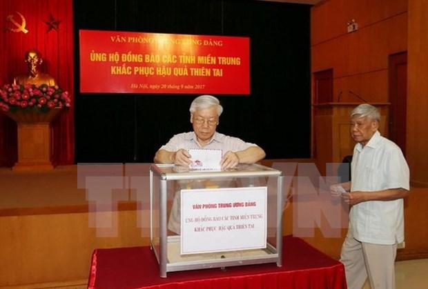 Typhon Doksuri : des aides accordees aux sinistres du Centre hinh anh 1