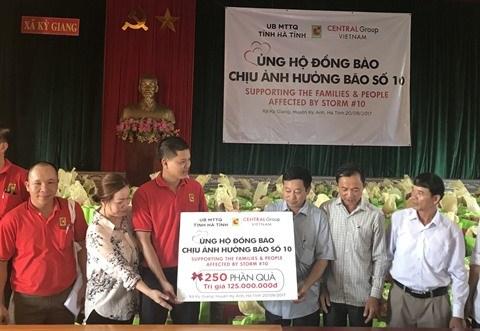 Central Group Vietnam soutient les populations touchees par le typhon Doksuri hinh anh 1