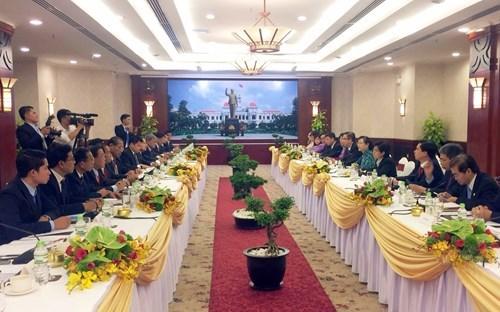 Ho Chi Minh-Ville et Champasak renforcent la cooperation entre les conseils populaires hinh anh 1