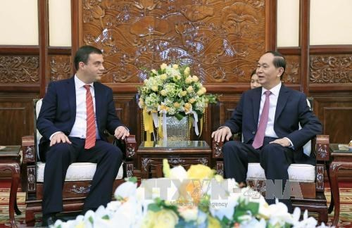 Le president Tran Dai Quang salue de nouveaux ambassadeurs hinh anh 1